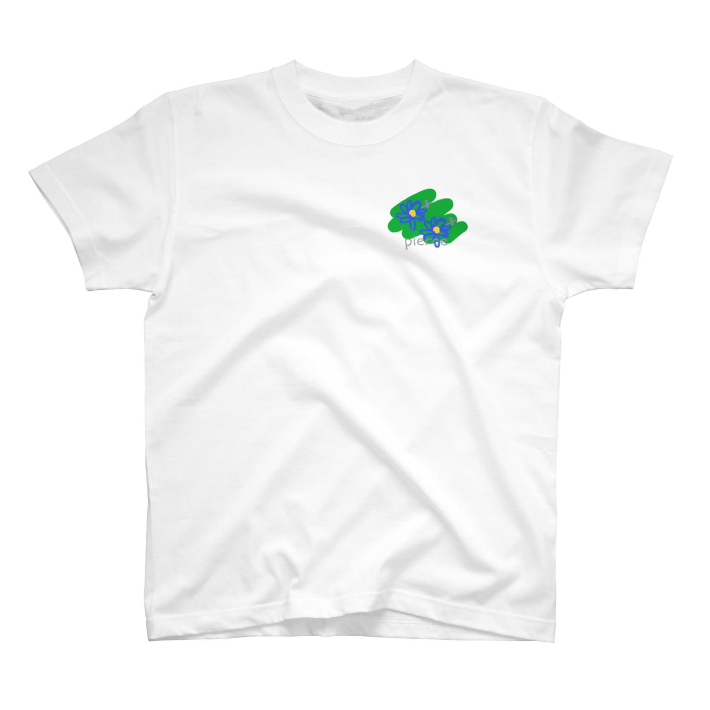 ちえのフラワーpierce T-shirts