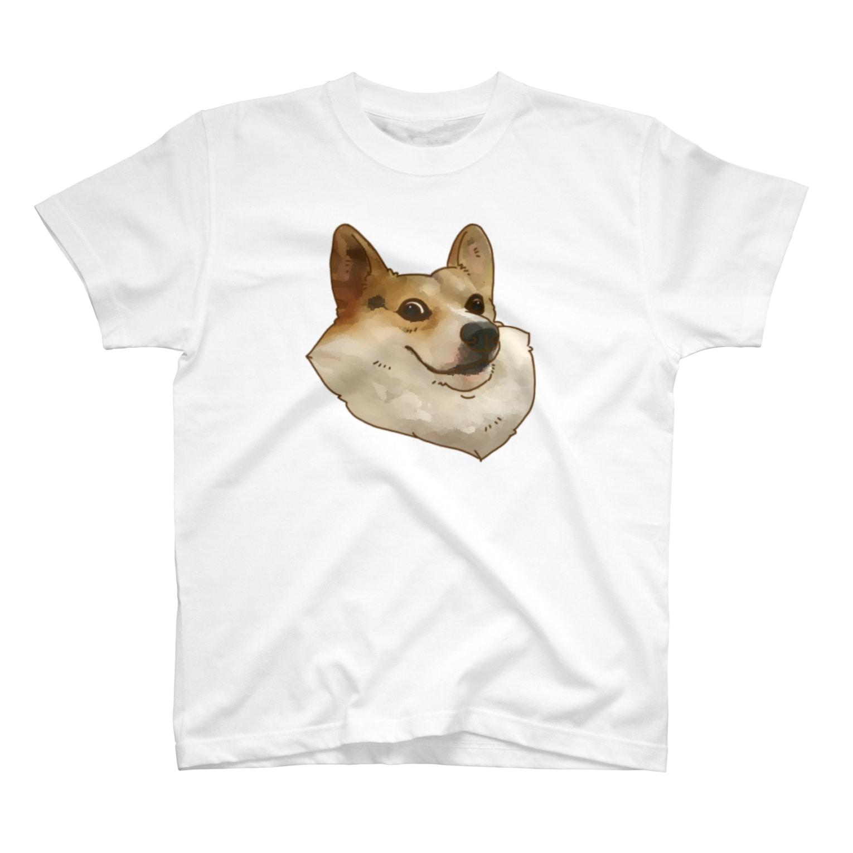 mofugeの荒ぶるコーギー 圧 T-shirts