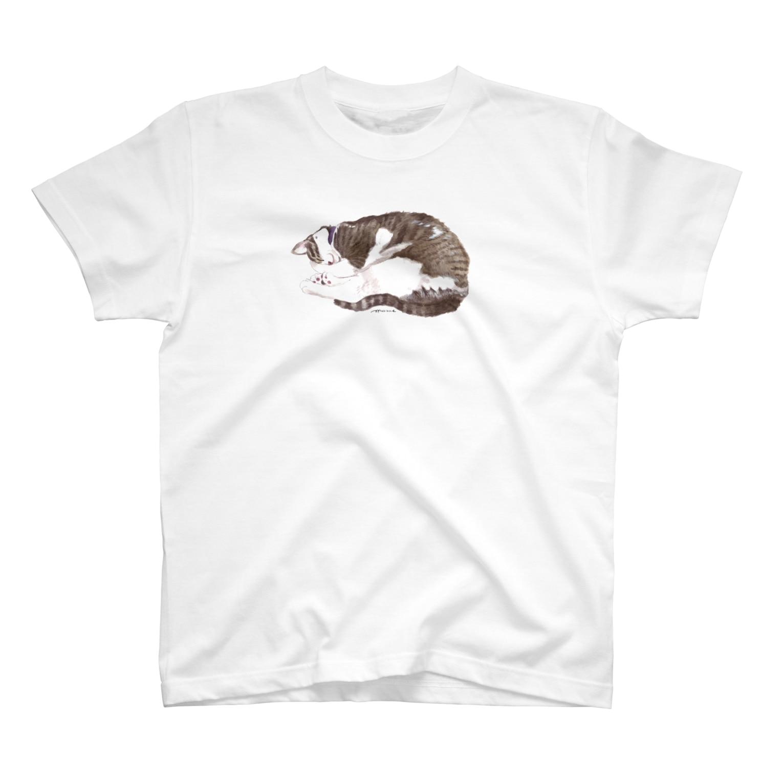 ヒラノマキコの2018.06月ねこ T-shirts