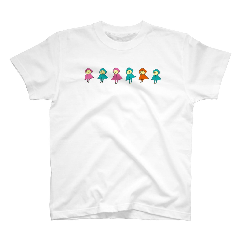 のたのパーカのものども(カラー) T-shirts