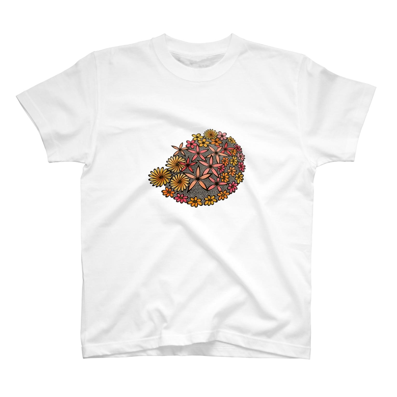 mimomimoのhana カラー T-shirts