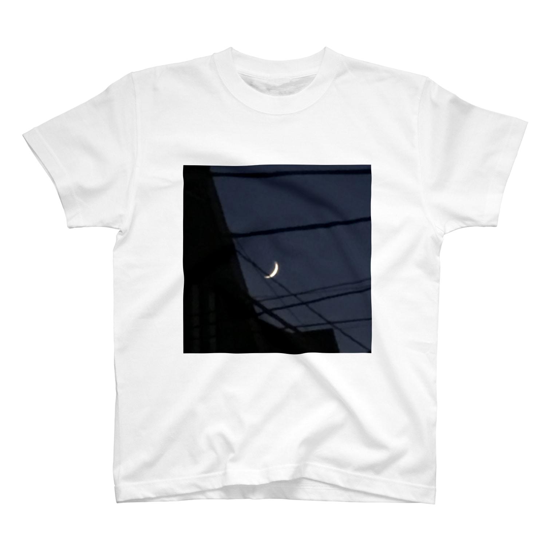 121_ailaのザラザラの月 T-shirts