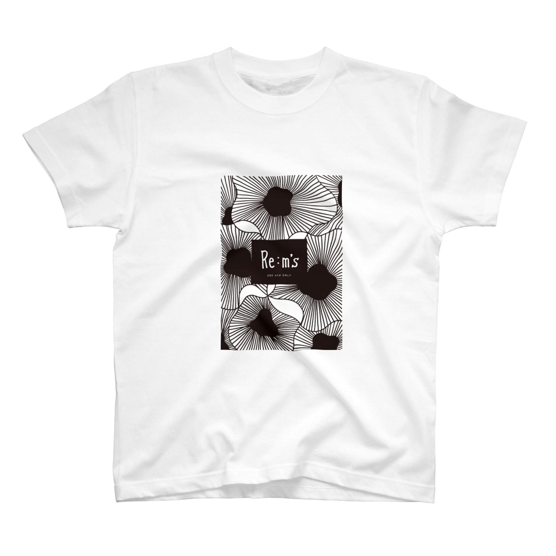 Re:m'sのMONOKURO T-shirts