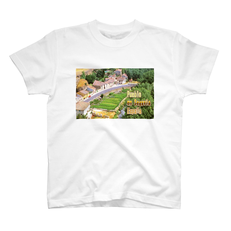 FUCHSGOLDのスペイン:セゴビア郊外の村 Spain: Village in Segovia T-shirts