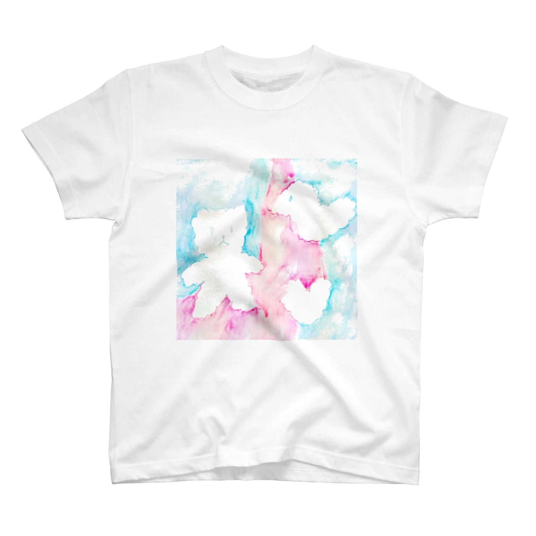 しがないななしSHOPのやさしい空 T-shirts