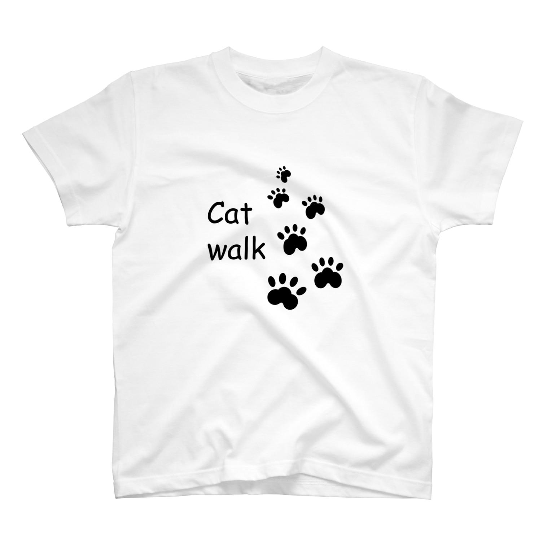 しる猫☆ミ雑貨店のCat walk T-shirts