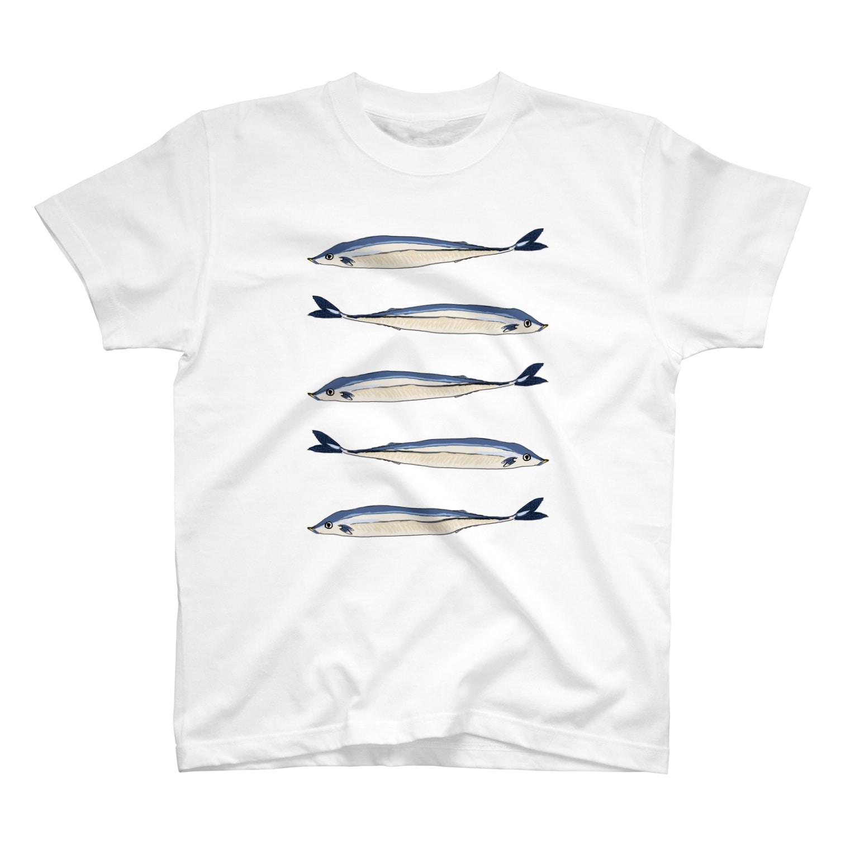 @nyacochin_のさんまのTシャツ T-shirts