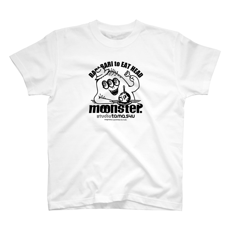 studio tama,syuのmoonster-01-B T-shirts