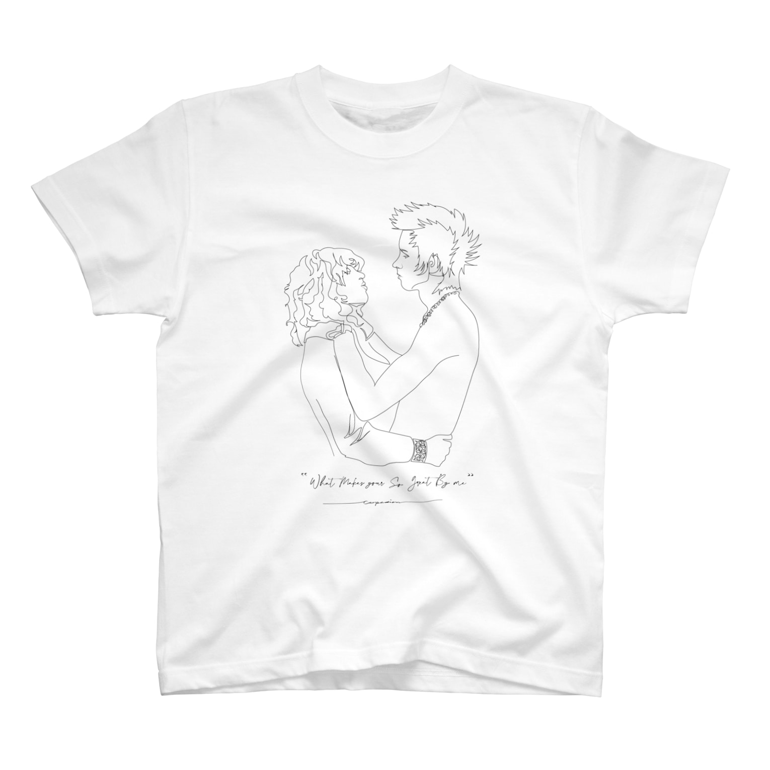 """carpediemの""""What Makes your So Great By me"""" T-shirts"""