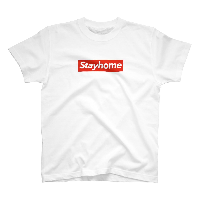StayhomeのBox Logo Tee T-shirts