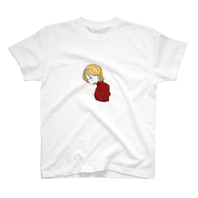 iamsaituyoの黄色い髪の女の子 T-shirts