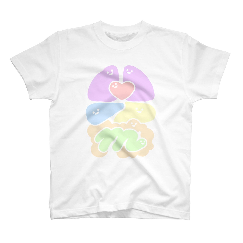 エナメルストア SUZURI店のパステルわた T-shirts