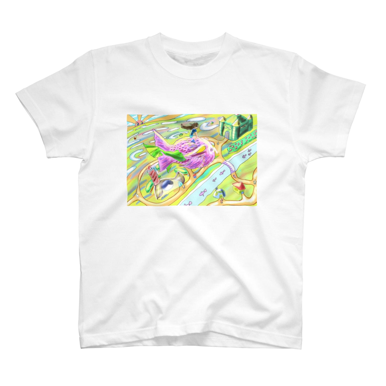 hujiyamakenjiのテコリン鳥 T-shirts