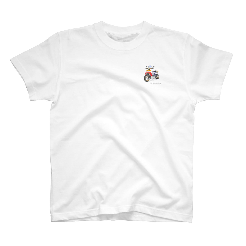 mota2の速そうなカブ号 T-shirts