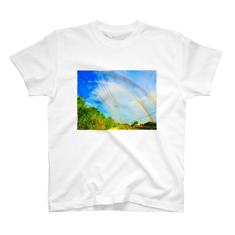 mizuphoto.comのダブル・レインボー T-shirts