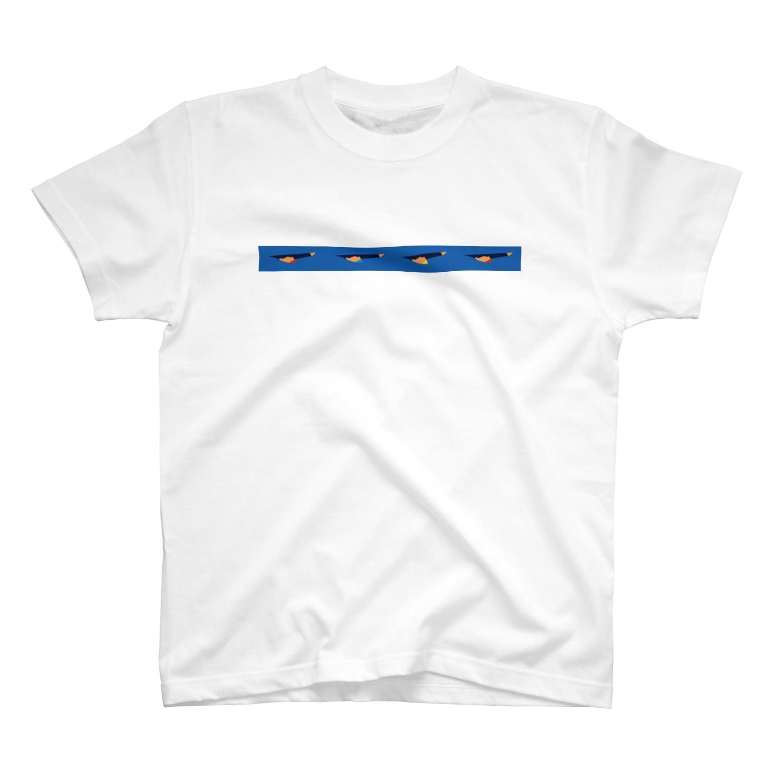 ahoy2の背泳ぎ T-shirts