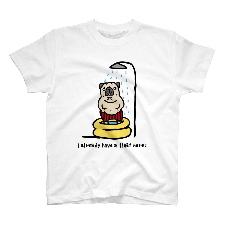 shishimaru-gmenのmyうきわパグさん☆ T-shirts