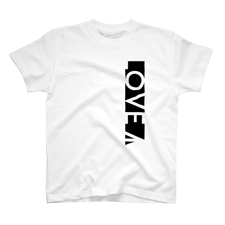YükaCh!ka(ユカチカ)のLOVE→白抜き T-shirts