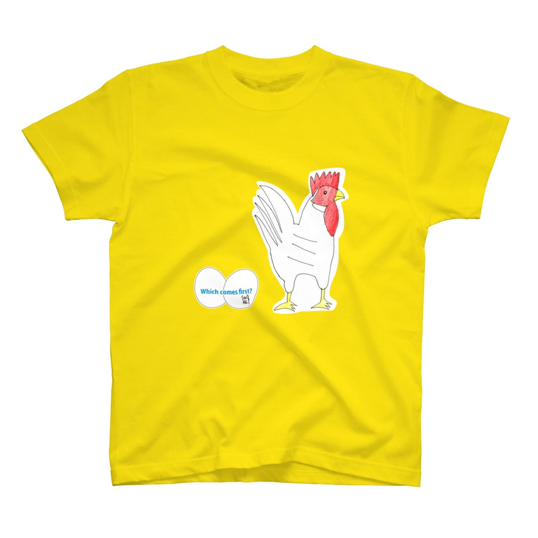 ★いろえんぴつ★のたまごとにわとり Tシャツ