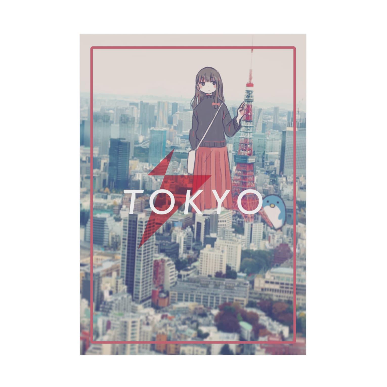 あんさいのHello Tokyo Stickable tarpaulin