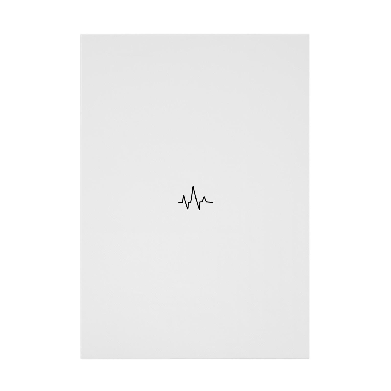 meloaの心電図 Stickable tarpaulin