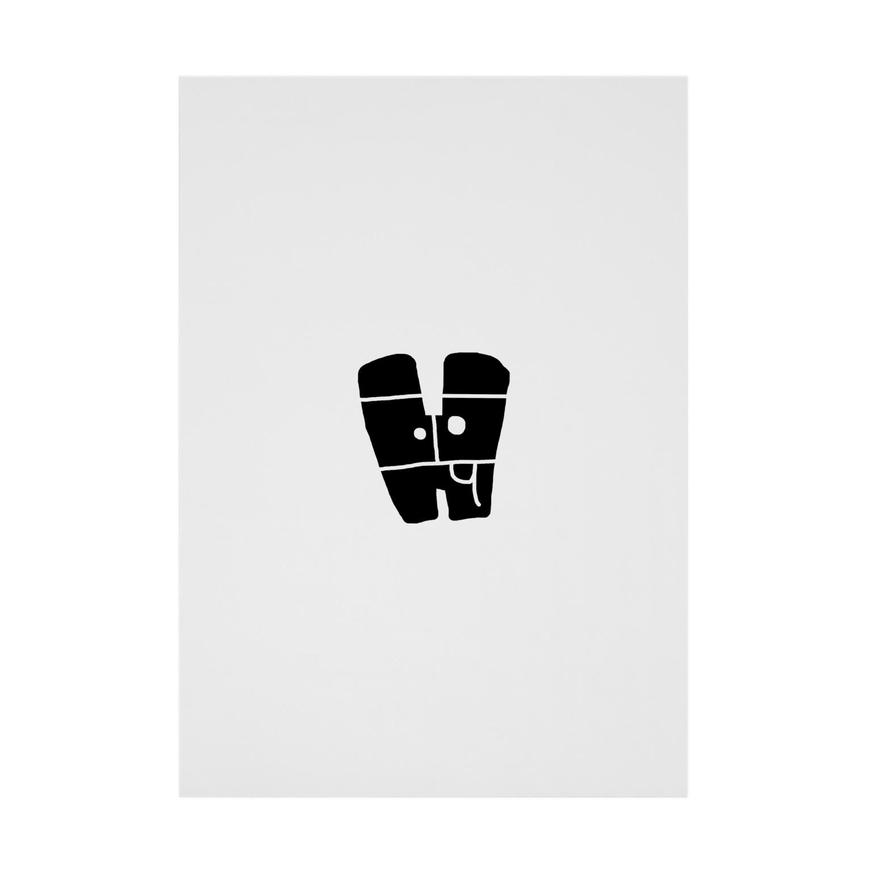 bocoxodesignShopのalphabetMONSTAR【H】 Stickable tarpaulin
