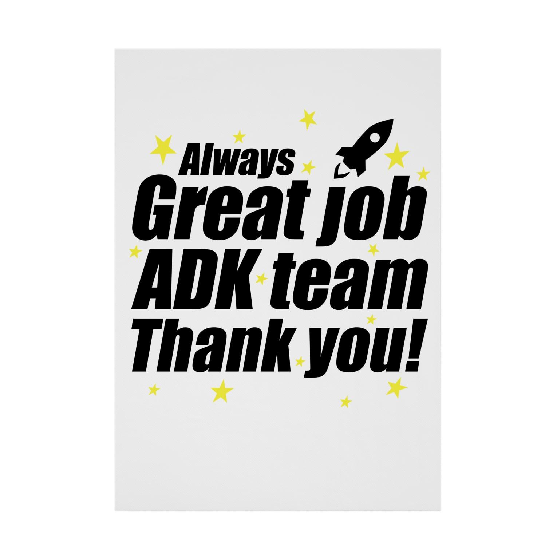 MacciのGreat ADK team! Stickable tarpaulin