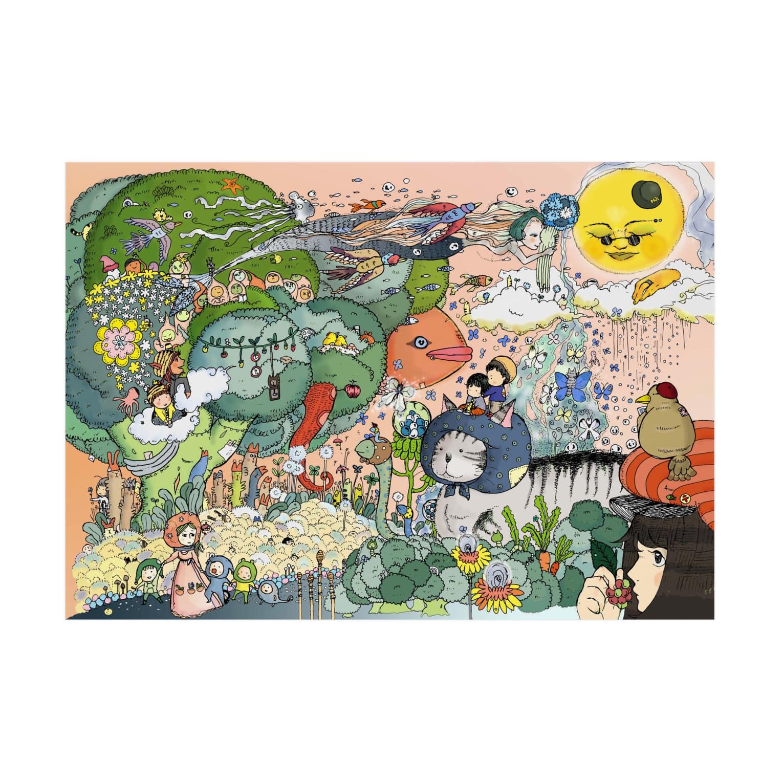 ほっかむねこ屋@ 1/6→1/12  にゃんこ展 / 原宿デザフェスギャラリーのブロッコリーの唄 吸着ターポリン