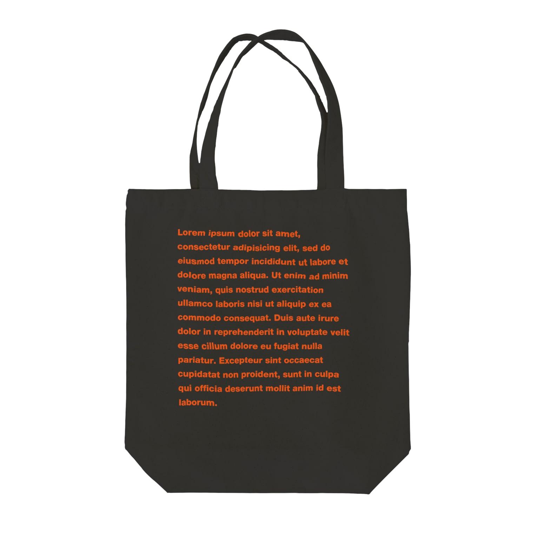 TATEYAMAのDUMMY TEXT Tote bags