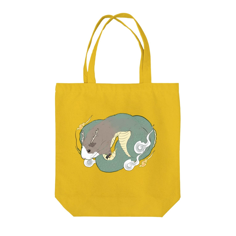 nins・にんずのテディモルモットのドラゴン Tote bags