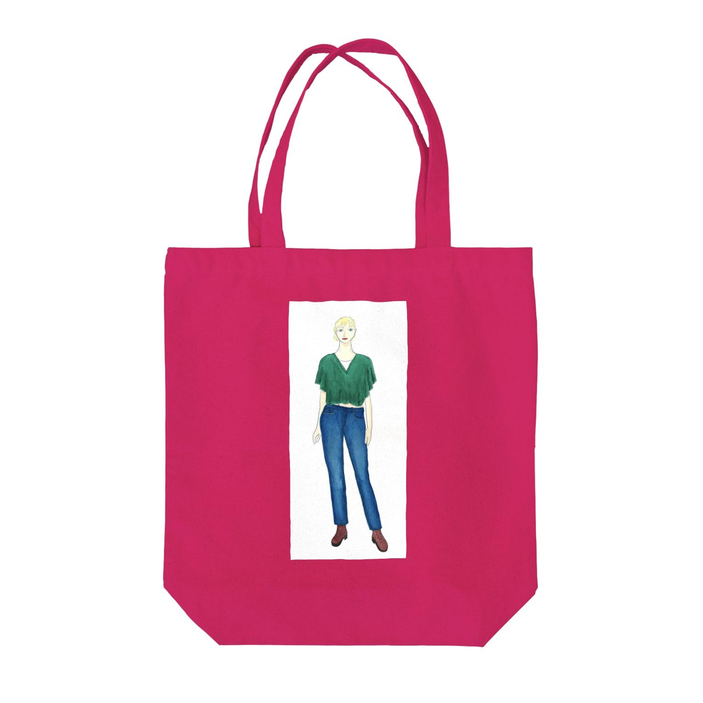 Makoto/真珡のウェスタンデニム Tote bags