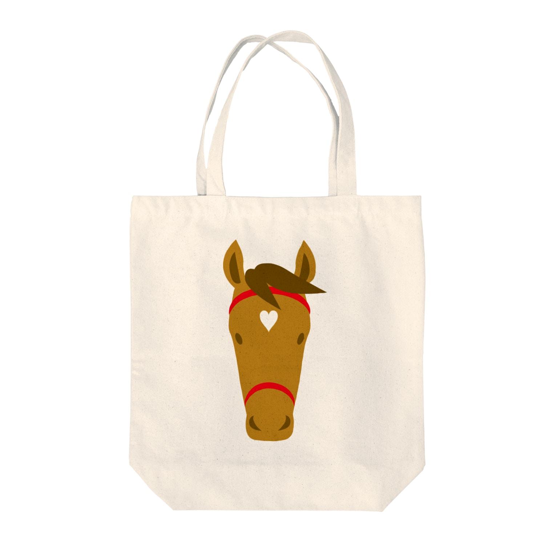 mayukiの馬(栗毛) Tote bags