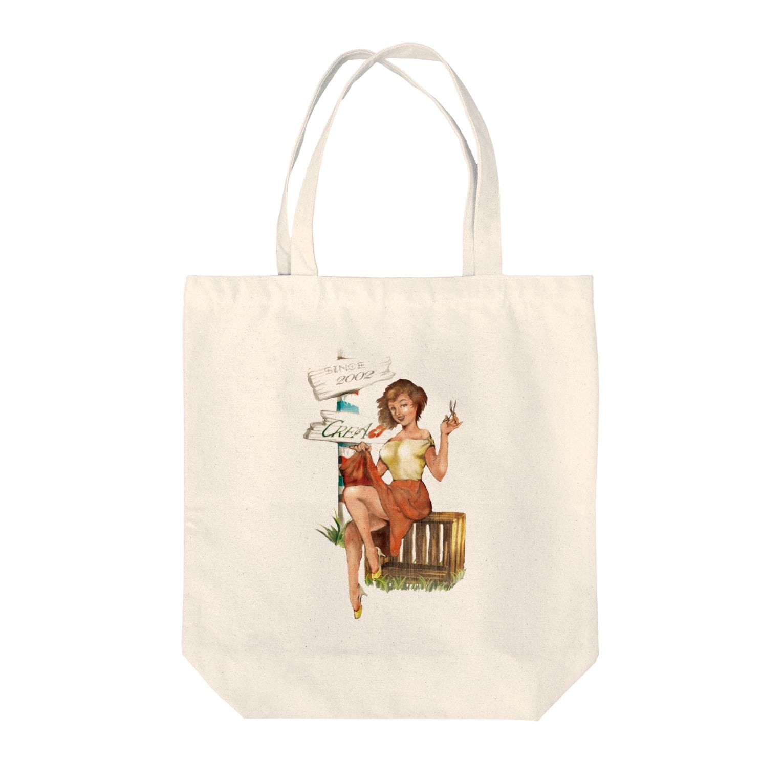 lulalunのサロンガール Tote bags