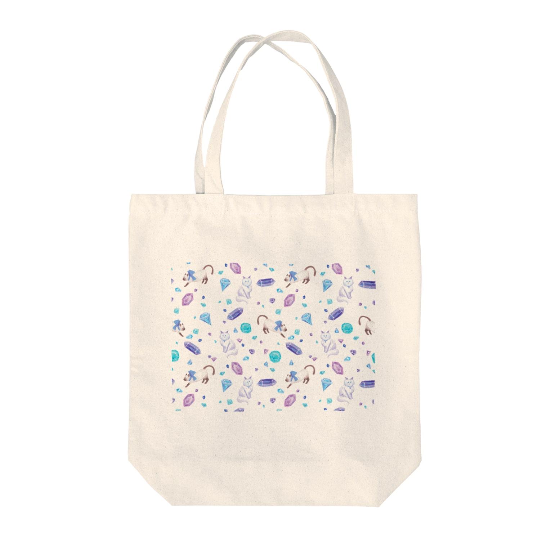Fanfleecyのgemstone(white) Tote bags