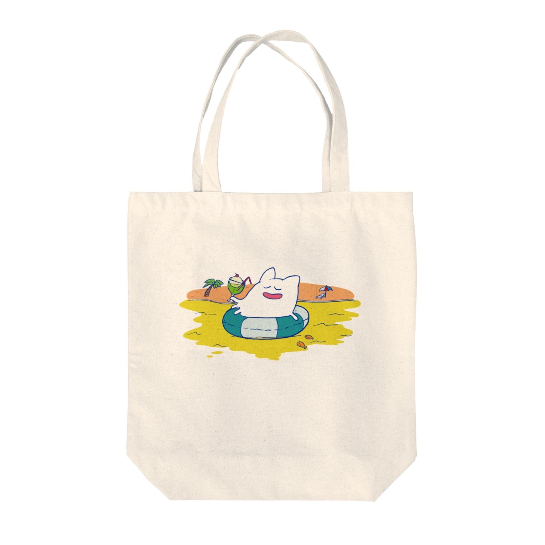 宮脇コイルのスーパーショップの海の日のハグキマル トートバッグ