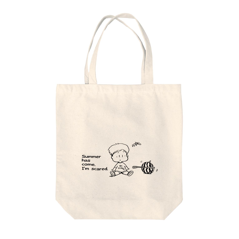 egu shopのテニスイカ Tote bags