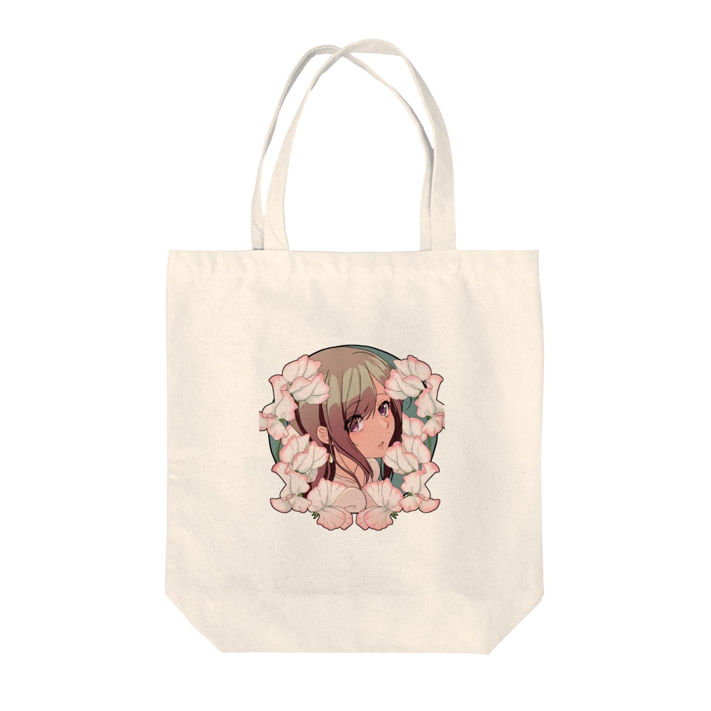 加速よんとのスイートピー Tote bags