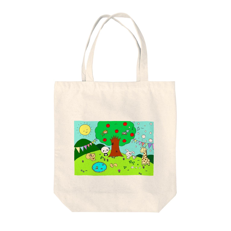 TONA1045の動物の楽園 Tote bags