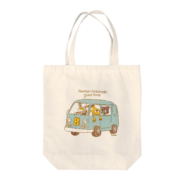 toy@mans marketのnobinobi nonbiri goodtime Tote bags