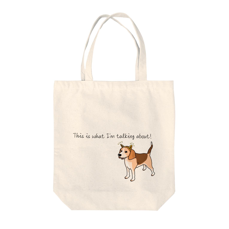 InkFish Designのピン耳ビーグル Tote bags