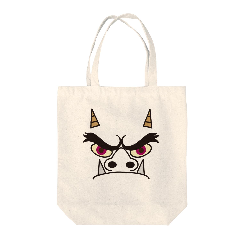 フォーヴァのオニ Tote bags