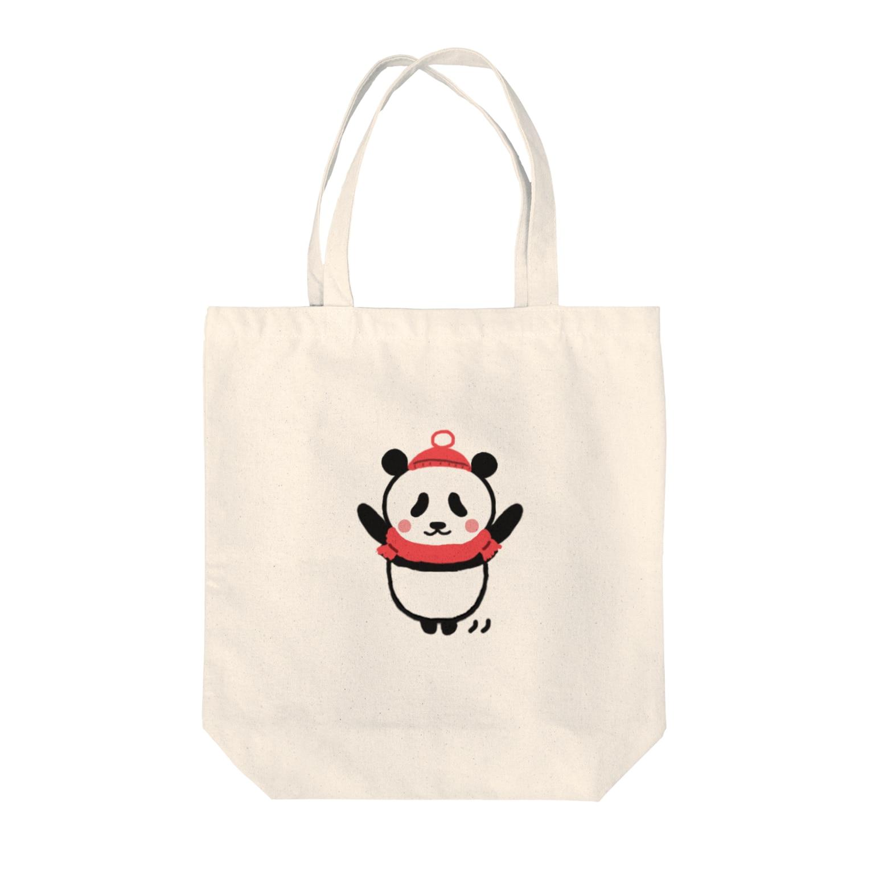 futaba shop(フタバショップ)のボクパンダ「お元気ですか」 Tote bags