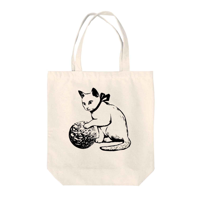 金星灯百貨店のボール遊び 黒線 トートバッグ