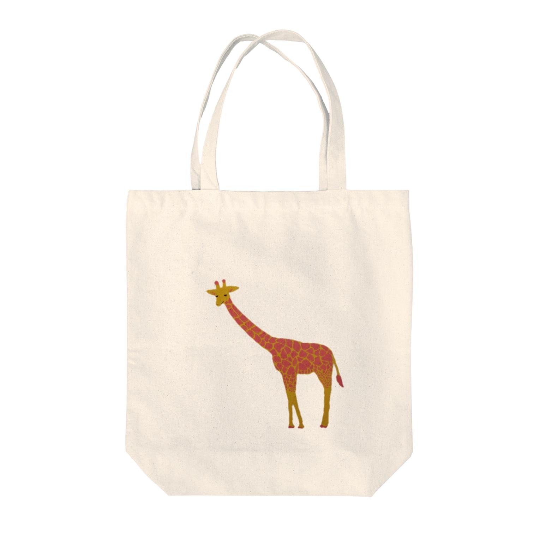 reecoのおさんぽ(キリン)  L Tote bags