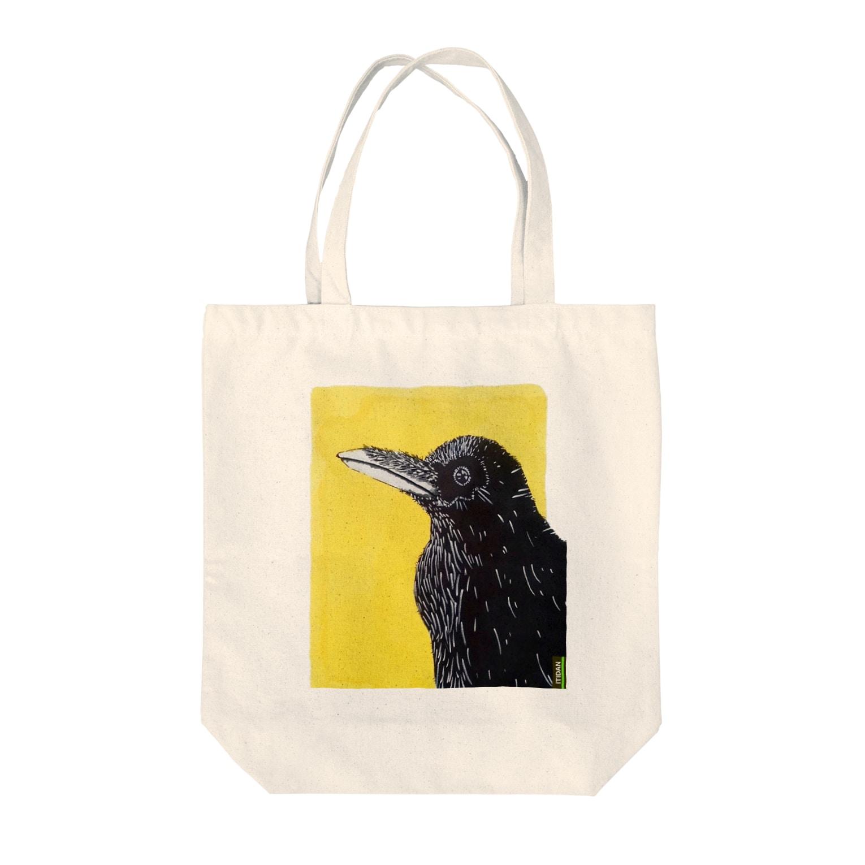 ITIDANのRaven Tote bags