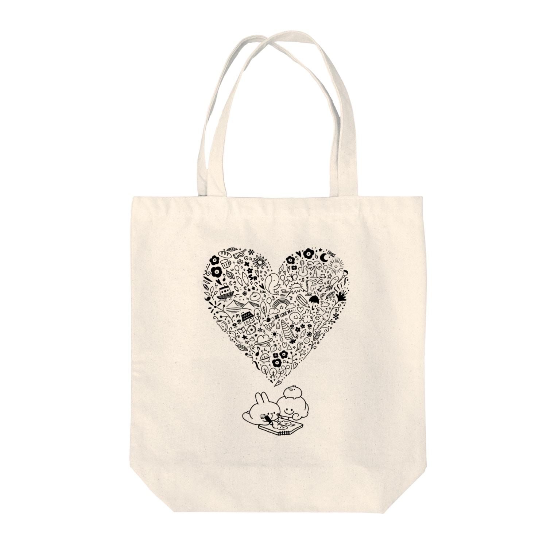 AKIRAMBOWのimagination Tote bags