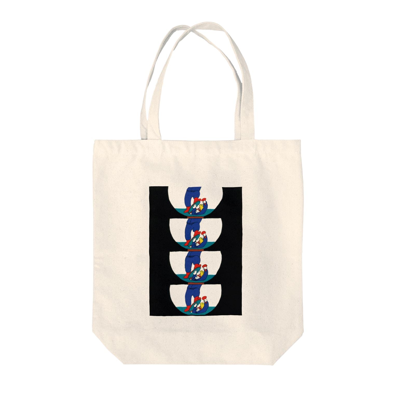 mihosのマンホール Tote bags