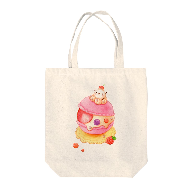pocoehonのポコポコマカロン Tote bags