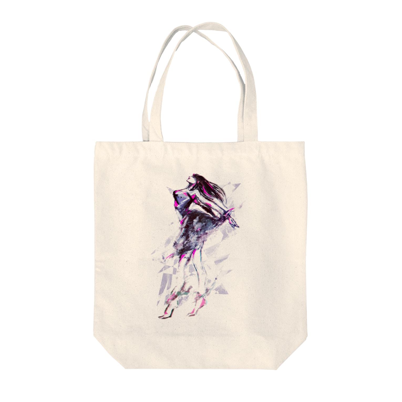 眠田ねむ蔵の風 Tote bags
