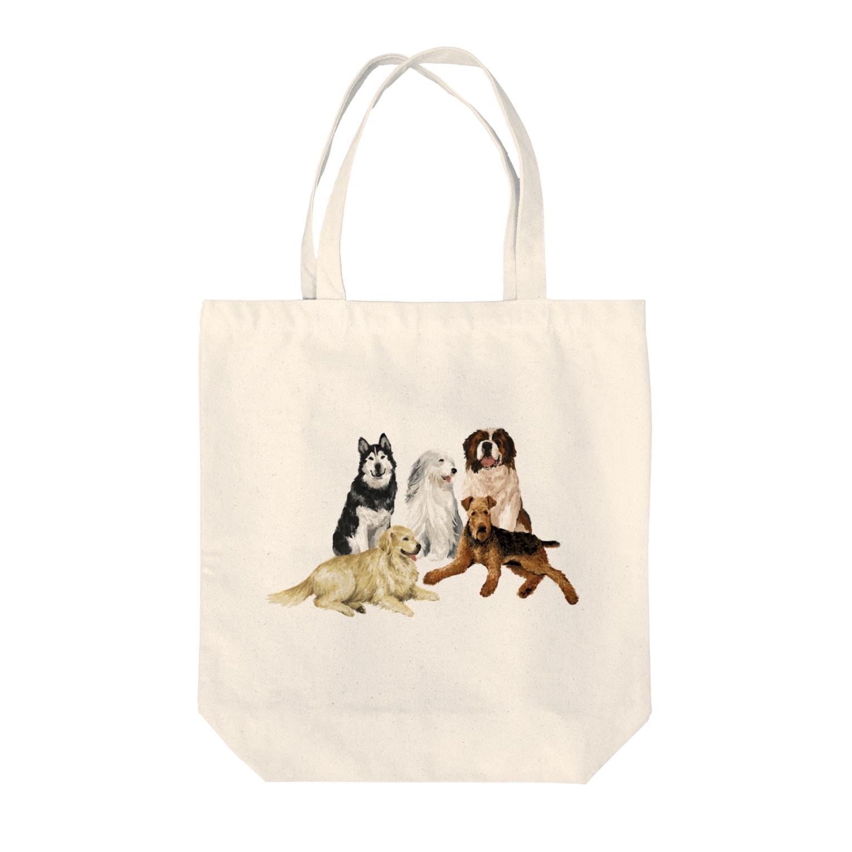 OOKIIINUの大きい犬たち Tote bags